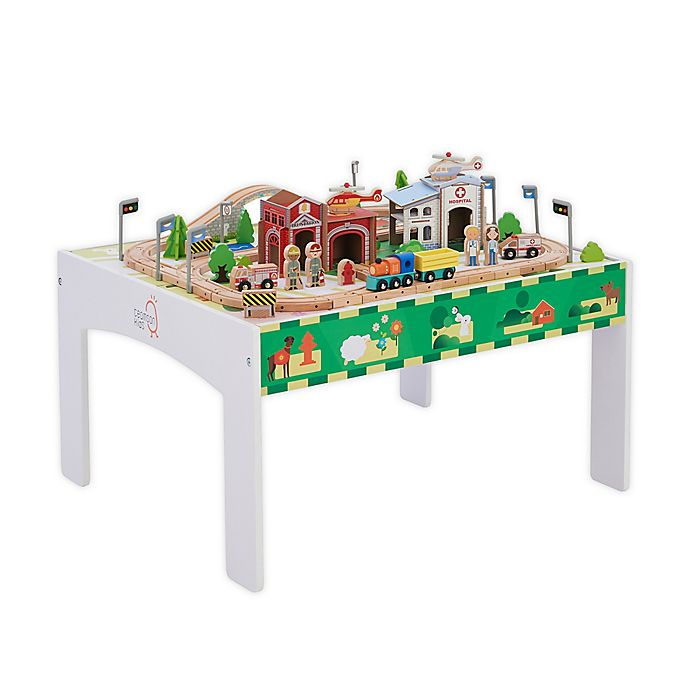 Alternate image 1 for Preschool Country Wooden Train Table Set