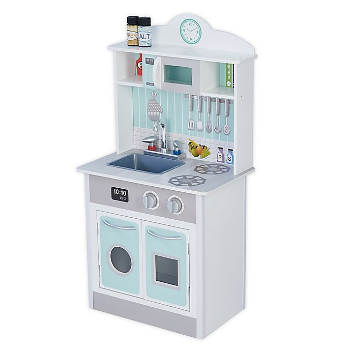 Alternate image 1 for Little Chef Wooden Play Kitchen in Mint
