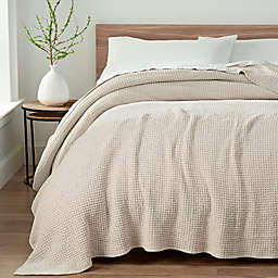 UGG® Delaney Chenille Reversible King Blanket in Oatmeal