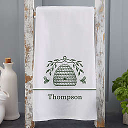 Bee & Willow™ Home Beehive Personalized Tea Towel in Green