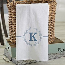 Bee & Willow™ Home Floral Initial Personalized Tea Towel Collection