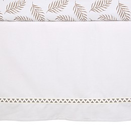 Lambs & Ivy® Signature Separates Cotton/Polyester Crib Skirt in White