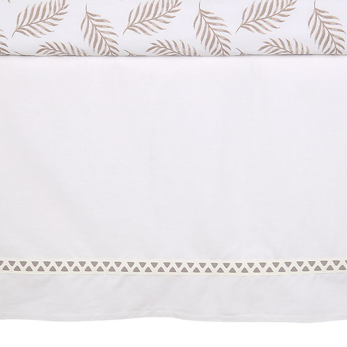 Alternate image 1 for Lambs & Ivy® Signature Separates Cotton/Polyester Crib Skirt in White