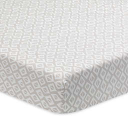 Lambs & Ivy® Signature Separates Tribal Geo Fitted Crib Sheet in Taupe/Grey
