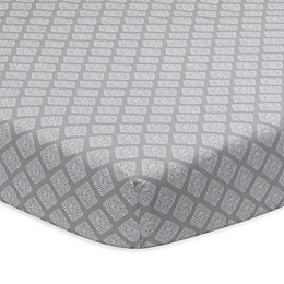 Lambs & Ivy® Signature Separates Diamond Medallion Fitted Crib Sheet in Taupe