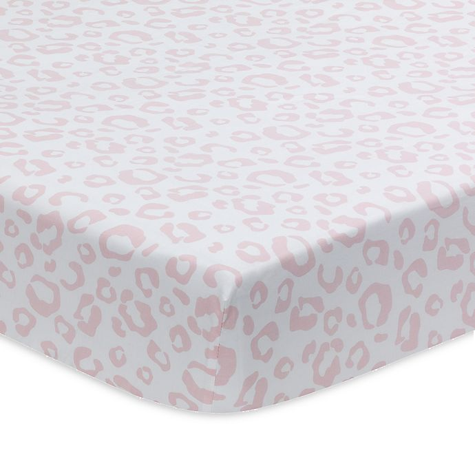 Alternate image 1 for Lambs & Ivy® Signature Separates Leopard Fitted Crib Sheet in Pink