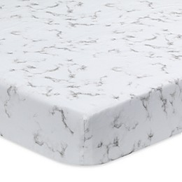 Lambs & Ivy® Signature Separates Marble Fitted Crib Sheet in Grey