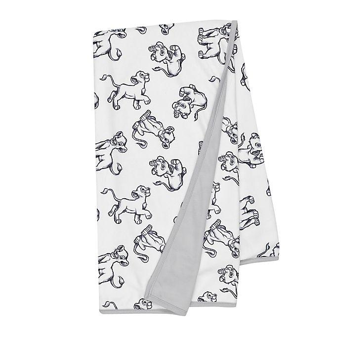 Alternate image 1 for Disney® The Lion King Sketch Receiving Blanket in White/Grey