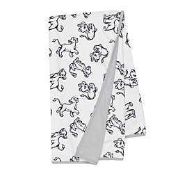 Disney® The Lion King Sketch Receiving Blanket in White/Grey