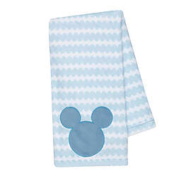 Disney® Mickey Mouse Lux Applique Receiving Blanket in Blue