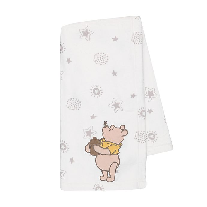 Alternate image 1 for Disney® Winnie the Pooh Lux Applique Receiving Blanket in Beige