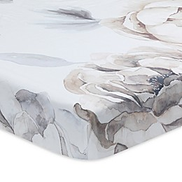 Lambs & Ivy® Signature Separates Watercolor Floral Fitted Crib Sheet in White