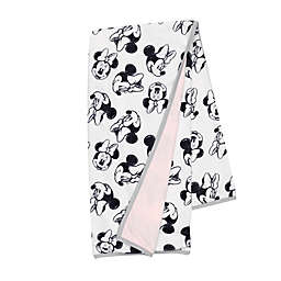 Disney® Minnie Mouse Sketch Receiving Blanket in White/Pink