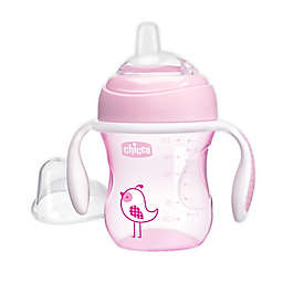 Chicco® 7 oz. Silicone Spout Transition Sippy Cup in Pink