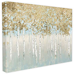 Abstract Gold Tree Landscape Canvas Wall Art