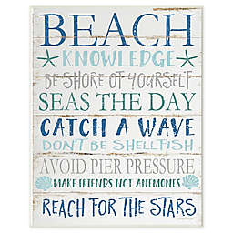 Beach Knowledge Wall Plaque