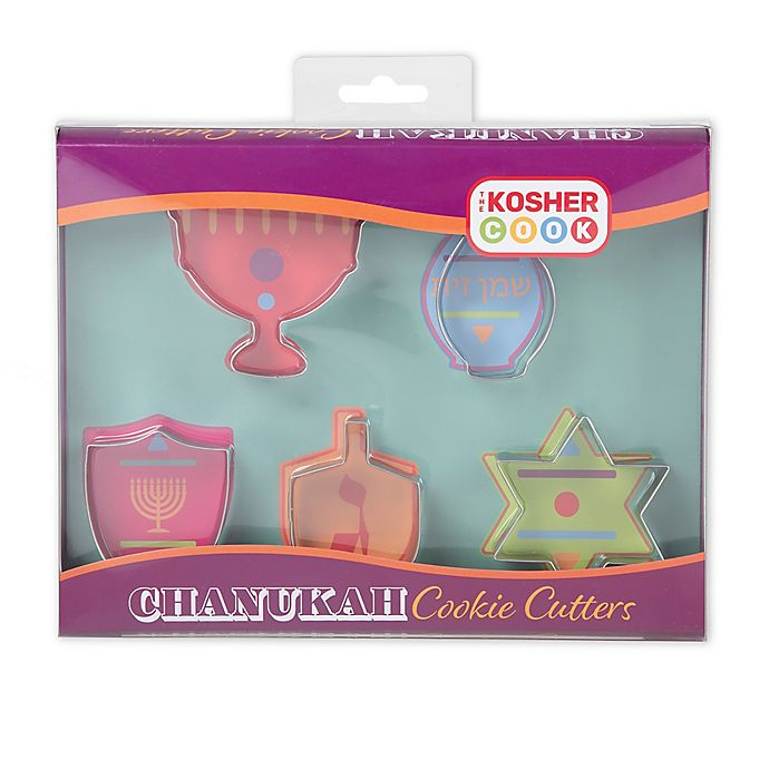 Alternate image 1 for The Kosher Cook Hanukkah Shapes Stainless Steel Cookie Cutter Set