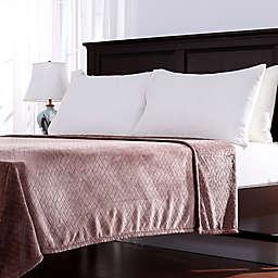 Berkshire Blanket VelvetLoft® Basketweave Throw Blanket