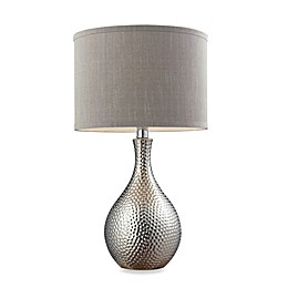 Overexposed Hammered Table Lamp