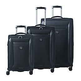 ful® Heritage 3-Piece Spinner Luggage Set in Black