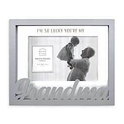 Prinz Quotable 8-Inch x 6.5-Inch Grandma Boxed Word Picture Frame in Grey