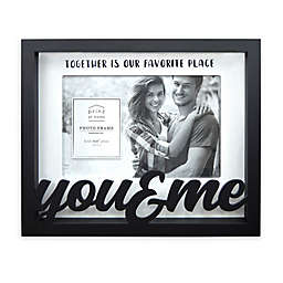 """Prinz """"You & Me"""" Boxed Word 8-Inch x 6.5-Inch Picture Frame in Black"""