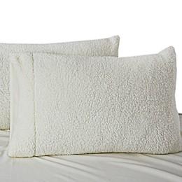 UGG® Plush Sherpa Standard/Queen Pillowcase in Snow