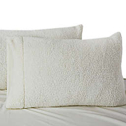 UGG® Polar Faux Fur Standard/Queen Pillowcase in Snow