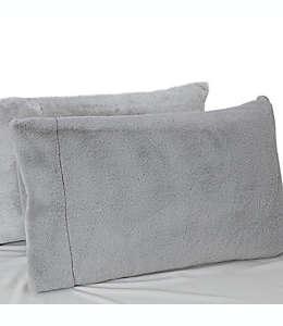 UGG® Funda para almohada estándar/queen de tela polar en gris glaciar