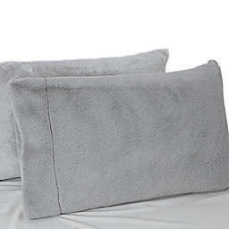 UGG® Polar Faux Fur Standard/Queen Pillowcase in Glacier Grey