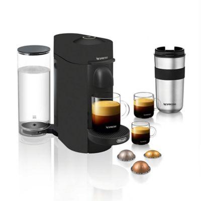 Nespresso - DeLonghi VertuoPlus Coffee Maker and Espresso Machine with 19 bars of pressure and Aeroccino Milk Frother - Black Matte