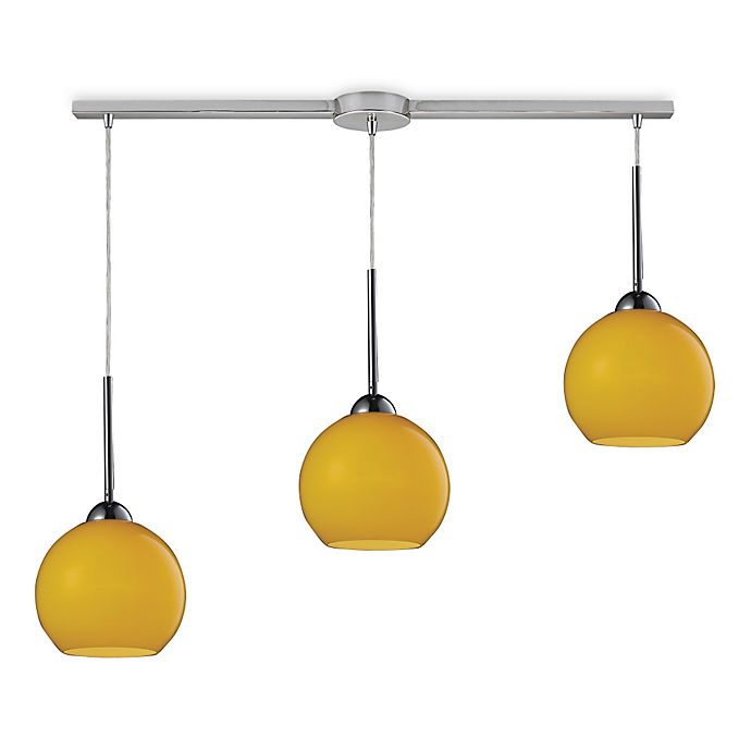 Alternate image 1 for HGTV HOME Cassandra 3-Light Pendant Light in Polished Chrome