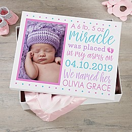 Baby Story Personalized Photo Keepsake Memory Box Collection