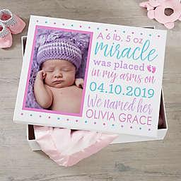 Baby Story Personalized Photo Keepsake Memory Box Collection
