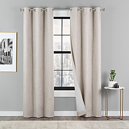 Eclipse Dawson 2-Pack Grommet Blackout Window Curtain Panels in Linen