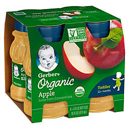 Gerber® 4-Pack 4 fl. oz. Organic Apple Juice