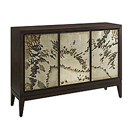 Abstract Sideboard in Brown/Cream