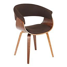 LumiSource Vintage Mod Dining Chair in Walnut/Espresso