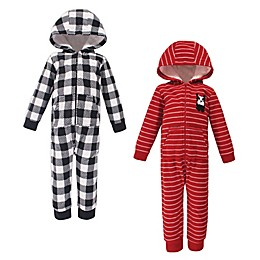 Hudson Baby® 2-Pack Christmas Fleece Hooded Toddler Coveralls