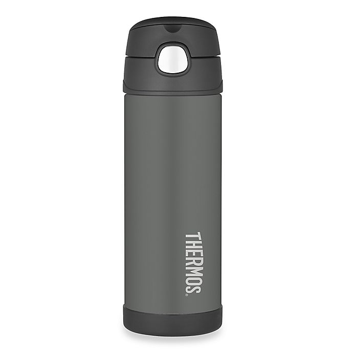 Alternate image 1 for Thermos® 16 oz. Stainless Steel Spout Bottle in Charcoal Grey