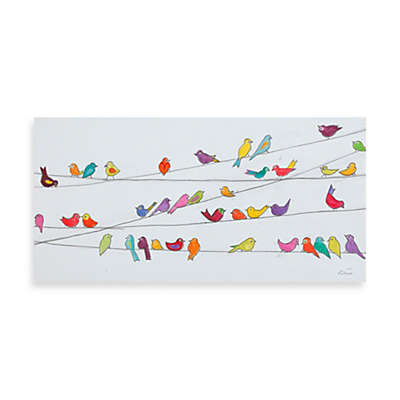 Fabrice de Villeneuve Studio Birds on a Wire Printed Canvas Wall Art