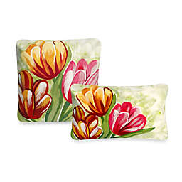Liora Manne Outdoor Throw Pillow Collection in Tulips