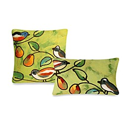 Liora Manne Outdoor Throw Pillow Collection in Song Birds
