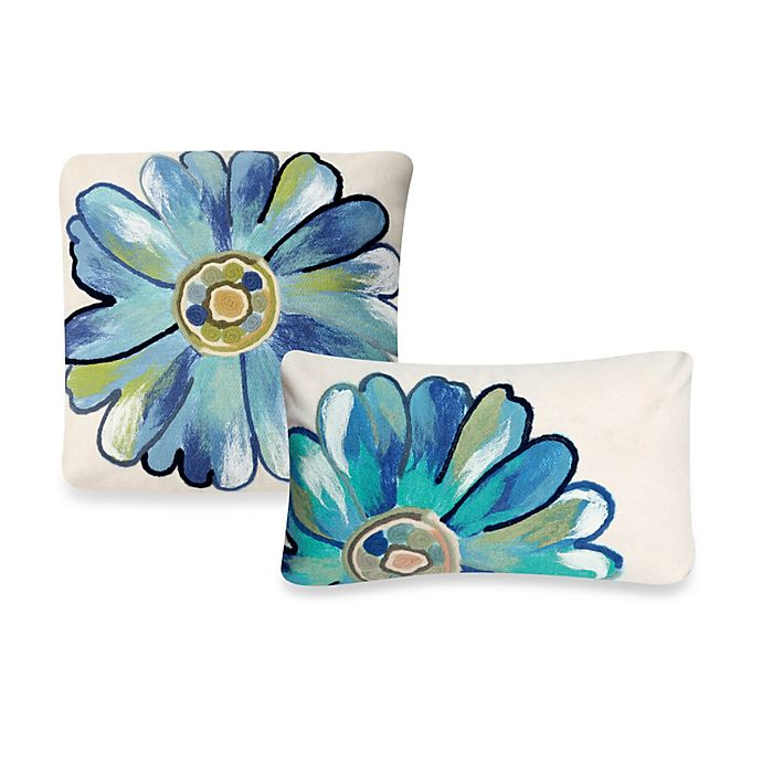 Alternate image 1 for Liora Manne Outdoor Throw Pillow Collection in Daisy
