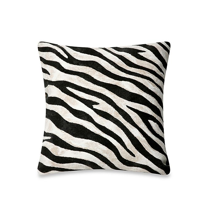 Alternate image 1 for Liora Manne Outdoor Throw Pillow Collection in Zebra