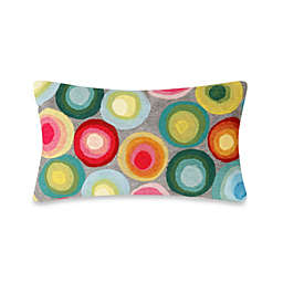 Liora Manne Oblong Outdoor Throw Pillow in Puddle Dot Multi