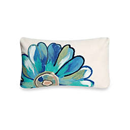 Liora Manne Oblong Outdoor Throw Pillow in Daisy Aqua