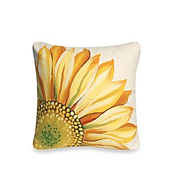 Liora Manne Outdoor Throw Pillow Collection in Sunflower Yellow