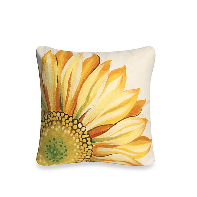 Liora Manne Outdoor Throw Pillow Collection In Sunflower