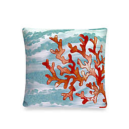 Liora Manne Outdoor Throw Pillow Collection in Coral Wave Aqua